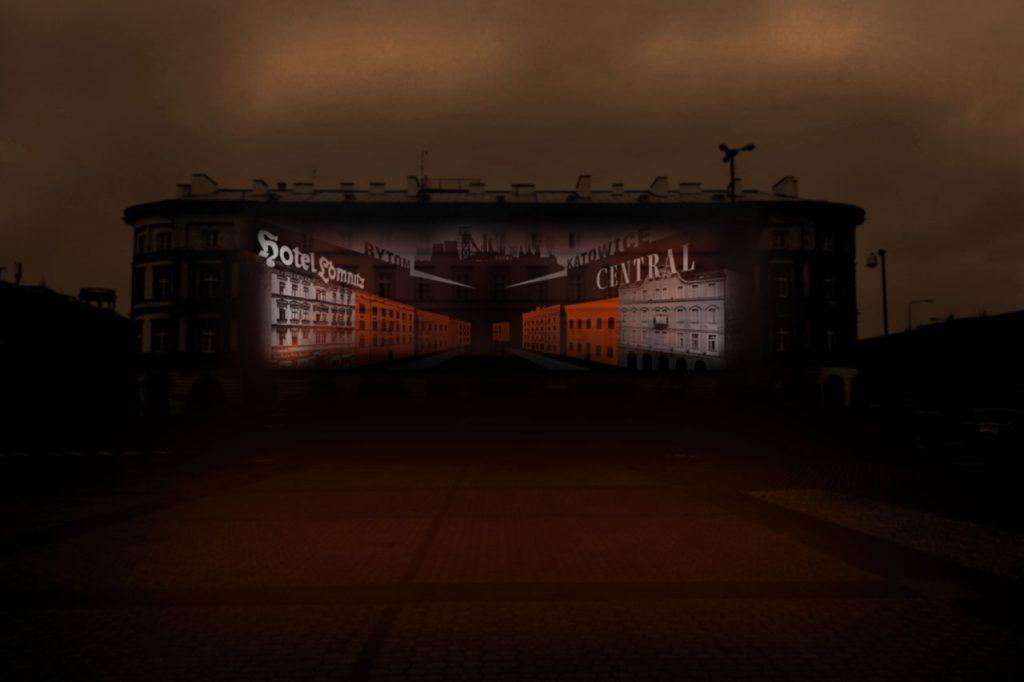 wizualizacja jednej ze scen na fasadzie