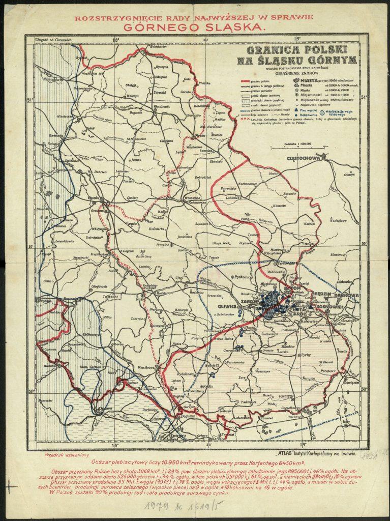 mapa z zaznaczonym na czerwono nowym przebiegiem granicy