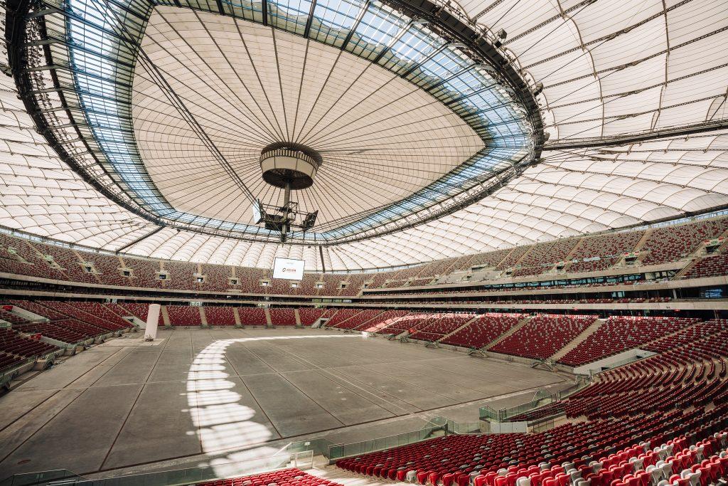 widok na wnętrze stadionu
