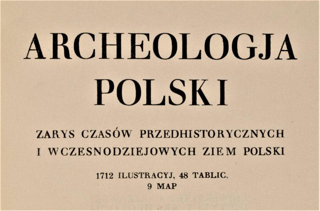 zdjęcie z tytułem czasopisma Archeologja Polski