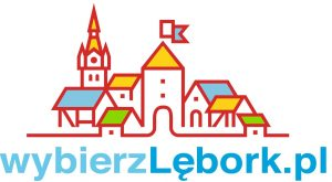 """logotyp """"wybierz Lębork"""""""