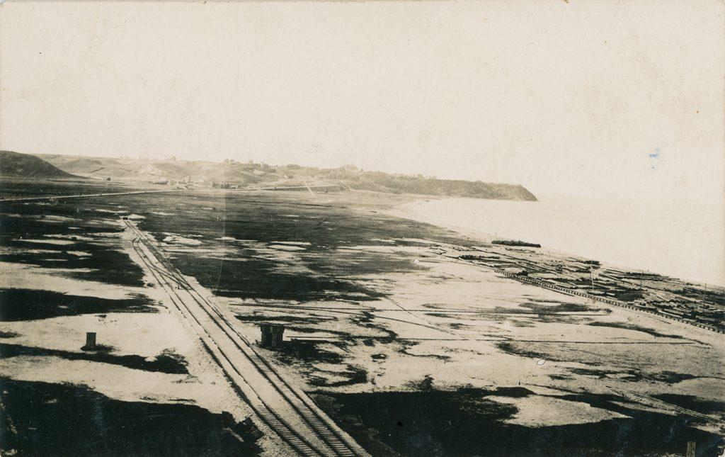 zdjęcie lotnicze pustej przestrzeni nad morzem