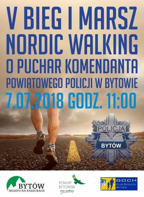 Baner - Plakat przedstawia nogi biegacza który biegnie w terenie.