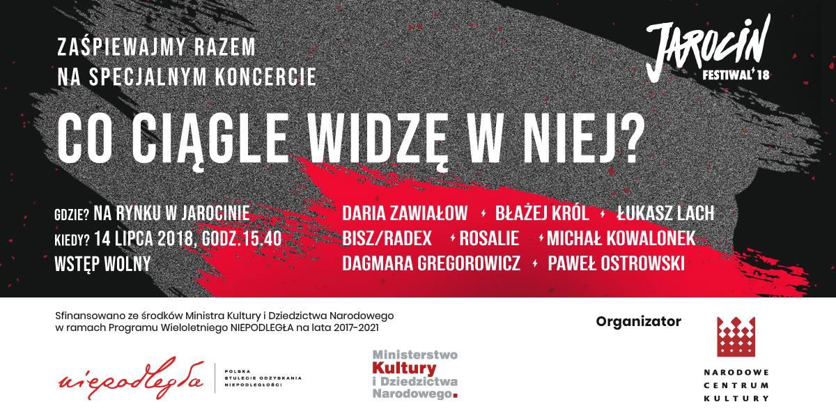 Baner koncertu w Jarocinie