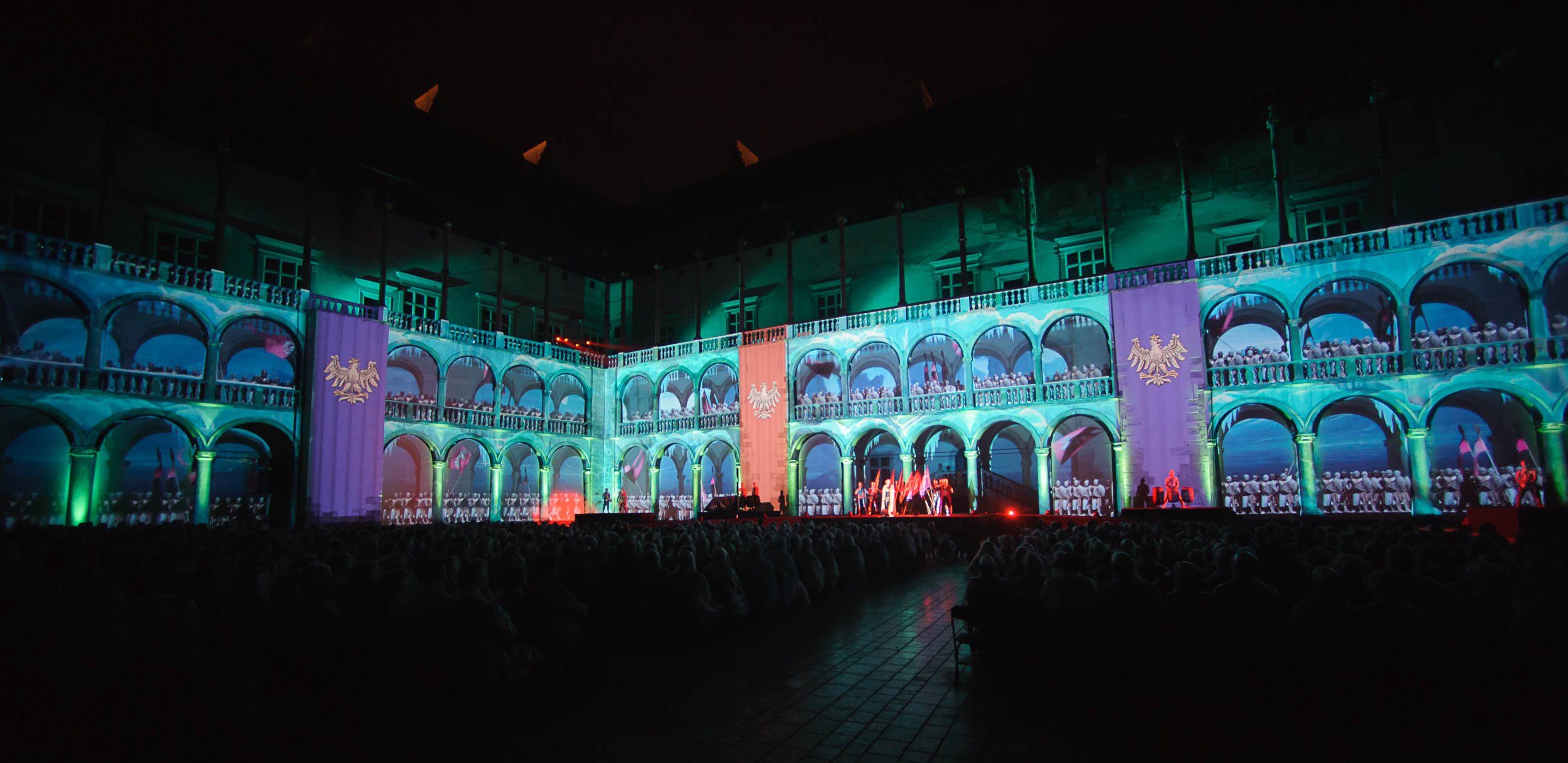 Zdjęcie z Alchemii Światła na Wawelu w 2015 r.