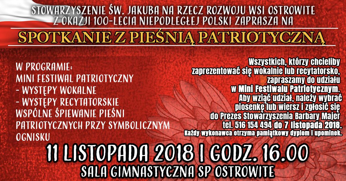 Spotkanie Z Pieśnią Patriotyczną Z Okazji 100 Lecia