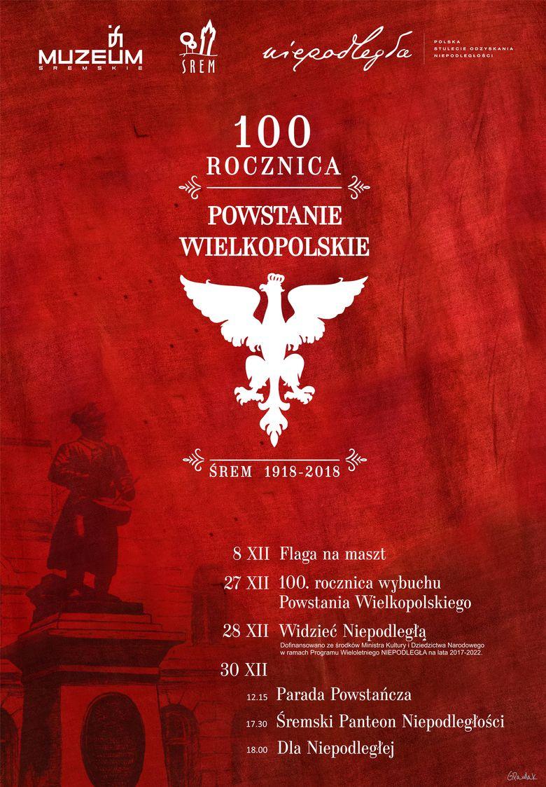 Plakat obchodów 100. rocznicy wybuchu Powstania Wielkopolskiego