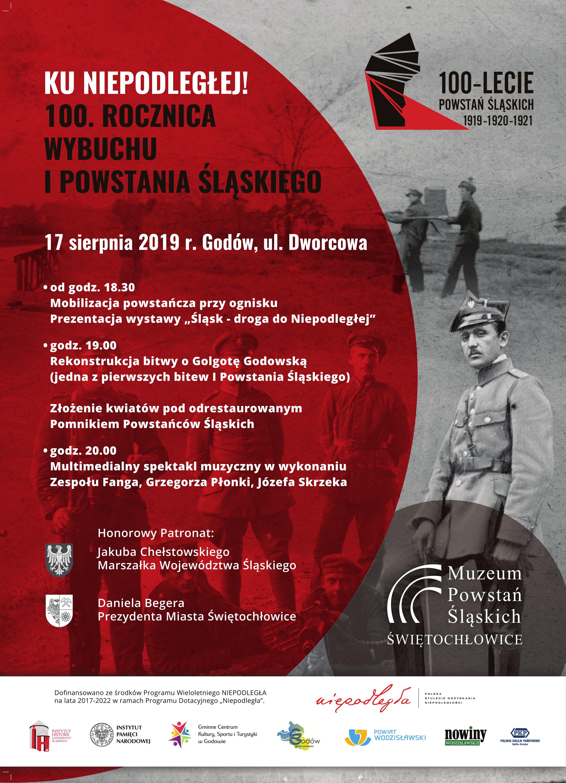 plakat z informacjami o wydarzeniu i logami