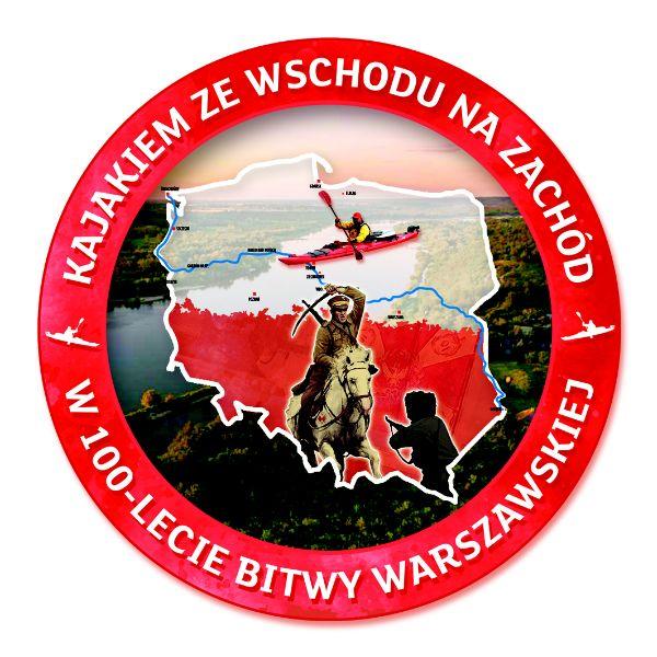 logo projektu Kajakiem ze wschodu na zachód w 100-lecie Bitwy Warszawskiej