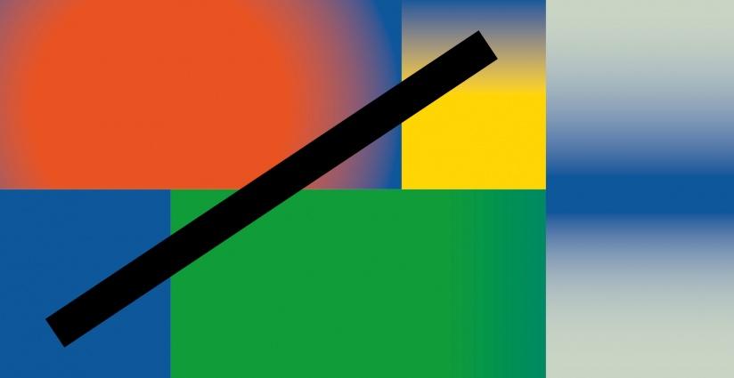 Kolorowa grafika w geometryczne wzory.